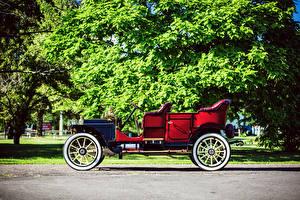 Картинка Винтаж Красный Сбоку 1910 Packard Model 18 Touring Авто