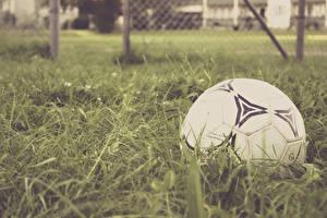 Обои Футбол Мяч Трава