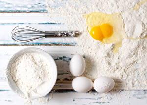 Фото Мука Яйца Еда