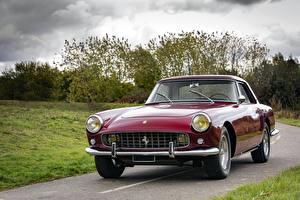 Обои Ferrari Ретро Бордовый Металлик 1958-60 250 GT Coupe Pininfarina Автомобили фото