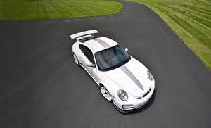 Обои Porsche Белый Сверху 2011 911 GT3 RS 4.0 Автомобили фото