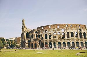 Обои Италия Рим Колизей Арка Города фото