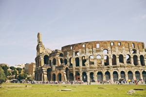 Картинка Италия Рим Колизей Арка Города