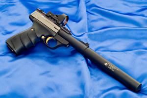 Обои Пистолеты Крупным планом Глушитель (оружейный) Browning URX Mark 22LR Армия