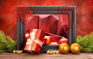 Картинки Праздники Новый год Подарки Шар