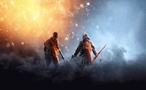 Обои Battlefield Солдаты Двое Негр Игры фото