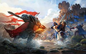 Битвы Воители Лучники Мечи Копья Доспехи Albion Online Игры