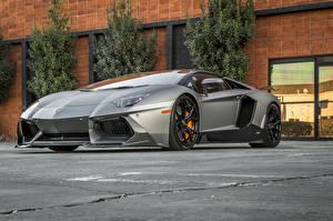 Картинка Ламборгини Тюнинг Роскошные Родстер 2014-16 Vorsteiner Lamborghini Aventador-V Roadster Zaragoza
