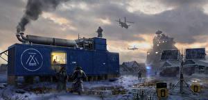 Обои Rise of the Tomb Raider Сибирь Солдаты Снег Gulag Rescue