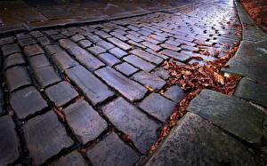 Фото Камни Осенние Тротуар Немецкий Города