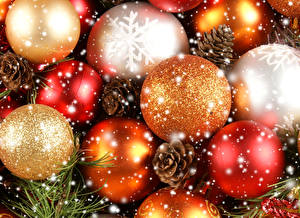 Обои Праздники Рождество Шар Снежинки