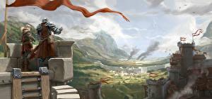 Воители Замки Крепость Albion Online, Castle Siege Игры