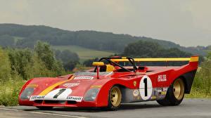 Обои Ferrari Ретро Формула 1 Красный 1972-73 312 P Автомобили фото