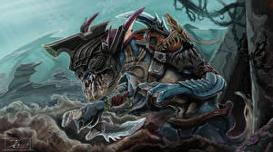 DOTA 2 Slark Монстры Воители Нож Игры