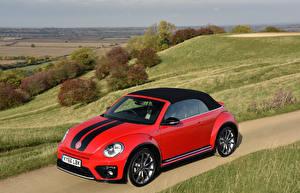 Обои Фольксваген Тюнинг Красный 2016 Beetle автомобиль