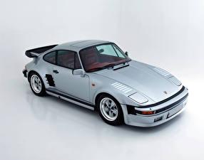 Картинка Porsche Ретро Серебристый 1986-89 911 Turbo 3.3 Coupe SE Flachbau Автомобили