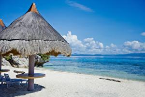 Обои Филиппины Тропики Побережье Море Пляж Природа фото