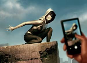 Герои комиксов Телефон Капюшон Смартфон Spider-Gwen