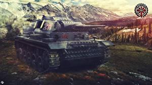 Обои World of Tanks Танки Немецкий Panzer III Игры фото