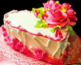 Фотография Сладости Торты Розы Дизайн Продукты питания