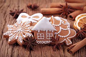 Фотографии Рождество Печенье Корица Бадьян звезда аниса Дизайн
