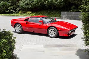 Обои Ferrari Ретро Красный Металлик 1984-85 GTO Pininfarina Автомобили фото