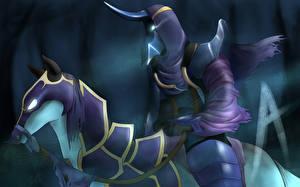 DOTA 2 Abaddon Воители Нежить Лошади Игры
