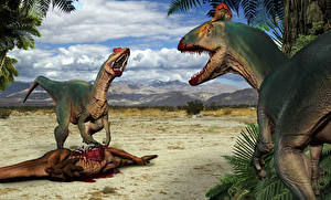 Картинки Древние животные Динозавры Кровь Cryolophosaurs Животные