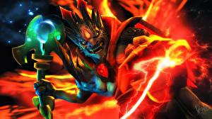 DOTA 2 Монстры Магия Воители Lion Игры