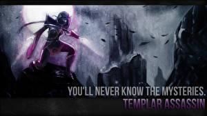 Обои DOTA 2 Templar Assassin Lanaya Эльфы Магия Маски Игры Фэнтези фото