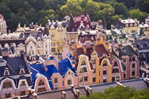 Фотография Киев Украина Здания Дизайн Города