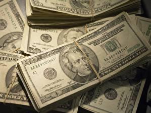 Фотография Деньги Купюры Доллары 20 Andrew Jackson