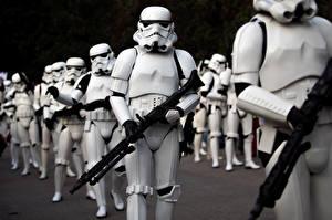 Обои Звездные войны Клоны солдаты Винтовки Воители Фэнтези