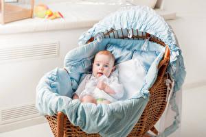 Обои Младенцы Кровать Дети