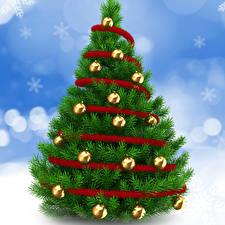 Обои Праздники Новый год Елка Шарики фото