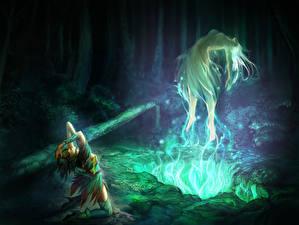 Обои Магия Призрак Ночь Двое Фэнтези Девушки фото