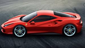 Обои Ferrari Сбоку Красный 488 2015 GTB Автомобили фото