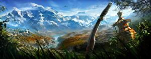 Обои Far Cry 4 Нож Горы Пейзаж Реки Игры фото