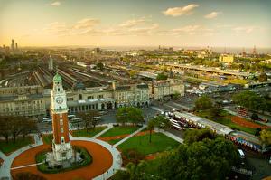 Обои Аргентина Дома Городская площадь Башня Горизонт Buenos Aires Города фото