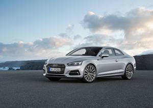 Фото Audi Серебристый Металлик 2016 A5 Coupe Автомобили