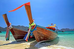 Картинка Лодки Побережье Тропики 2
