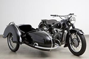Обои BMW - Мотоциклы Ретро Черный Металлик 1951-55 R 51-3 with a Steib Sidecar Мотоциклы фото