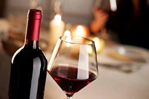 Фотографии Вино Напитки Бокалы Бутылка Продукты питания