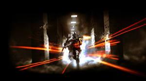 Обои Battlefield Солдаты Автоматы Двое Выстрел 3 Игры фото