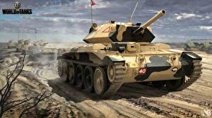 Обои World of Tanks Танки Nikita Bolyakov Британский Crusader Mk.VI Игры фото