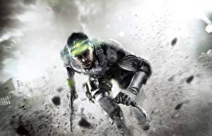 Обои Tom Clancy Splinter Cell Мужчины Воители Нож Пистолеты Blacklist Игры фото