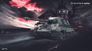 Фотография World of Tanks САУ Немецкий 8,8 cm Pak 43 Jagdtiger Игры