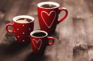 Обои Кофе Кружка Сердце Красный Трое 3 Еда фото