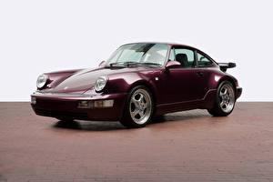 Обои Порше Металлик Бордовый 1990-92 1990-1992 Porsche 911 Turbo 3.3 Coupe машина