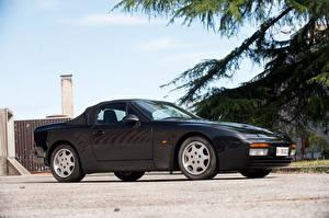 Фото Porsche Винтаж Металлик Черный 1989-91 944 S2 Cabriolet Автомобили
